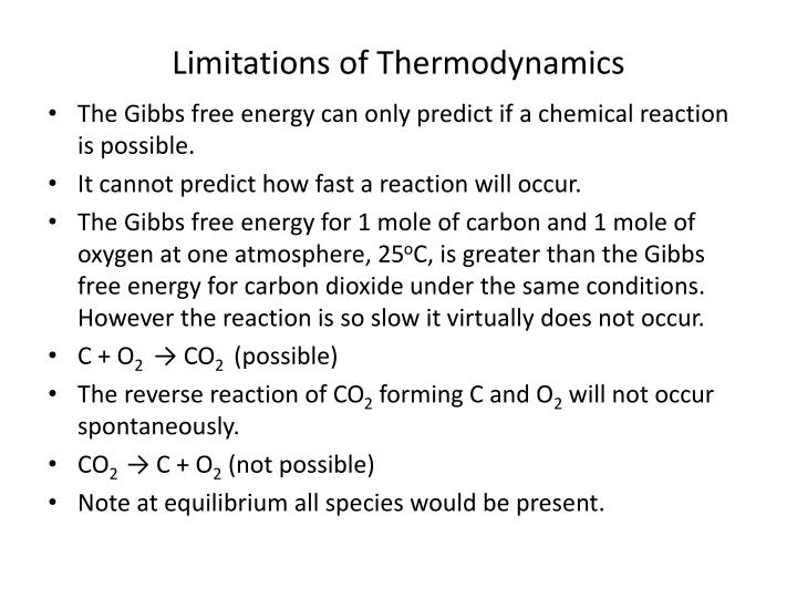 Limitations of Thermodynamics