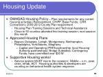 housing update