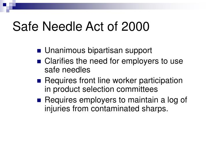 Safe Needle Act of 2000
