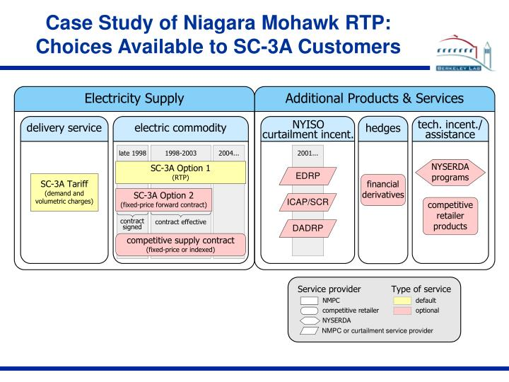 Case Study of Niagara Mohawk RTP: Choices Available to SC-3A Customers