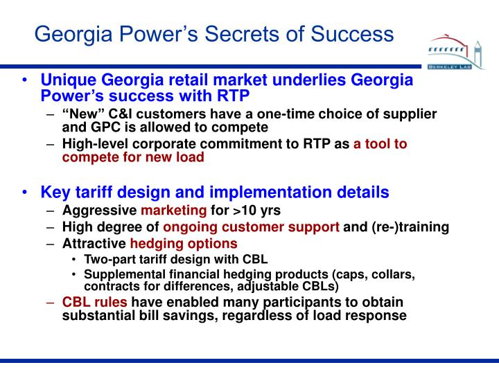 Georgia Power's Secrets of Success