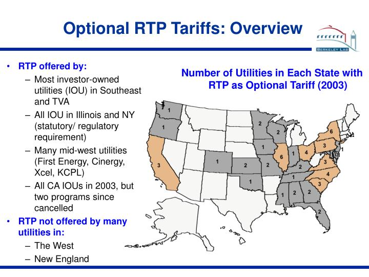 Optional RTP Tariffs: Overview