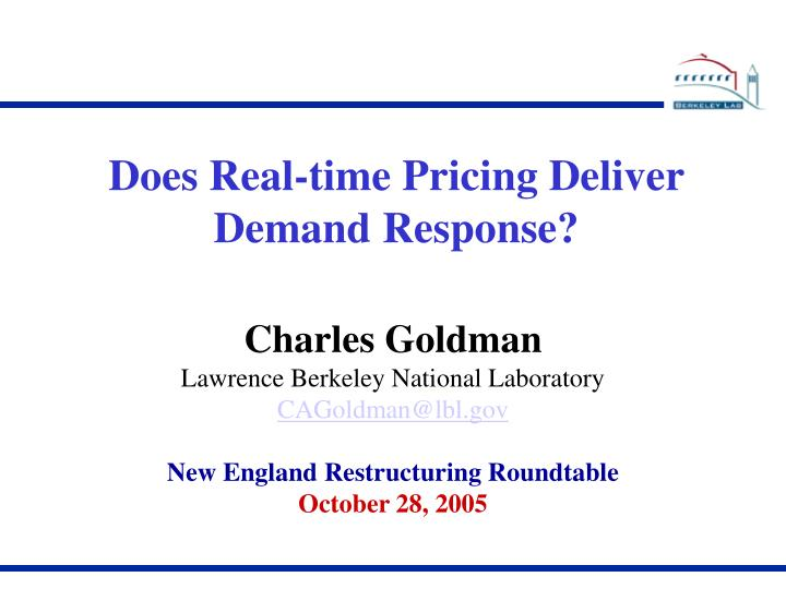 Does Real-time Pricing Deliver Demand Response?