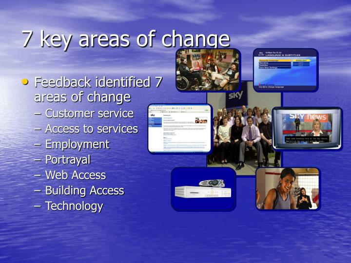 7 key areas of change