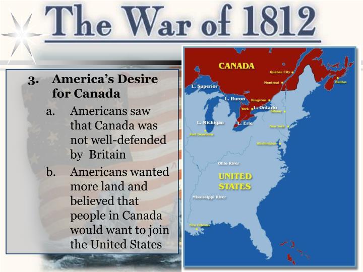 America's Desire for Canada