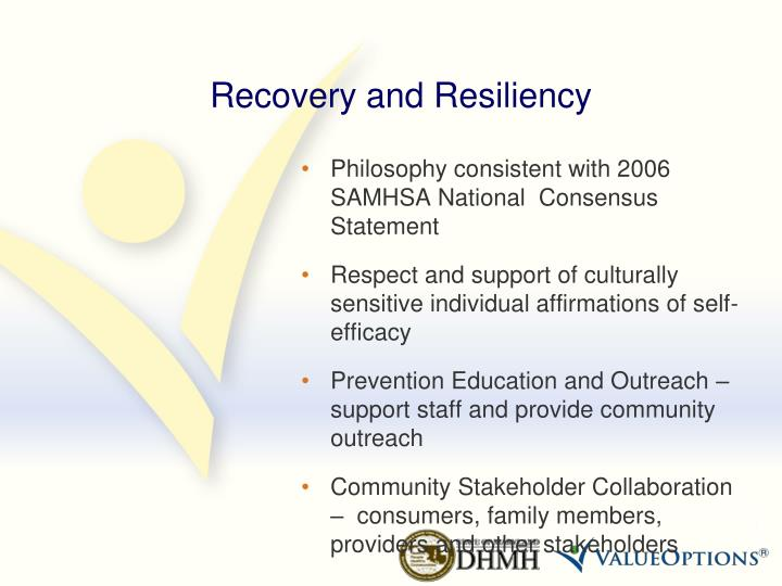 Recovery and Resiliency
