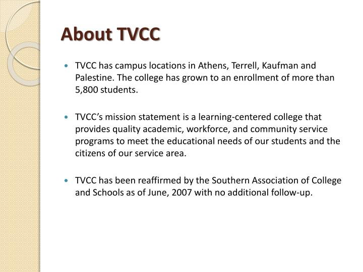 About TVCC
