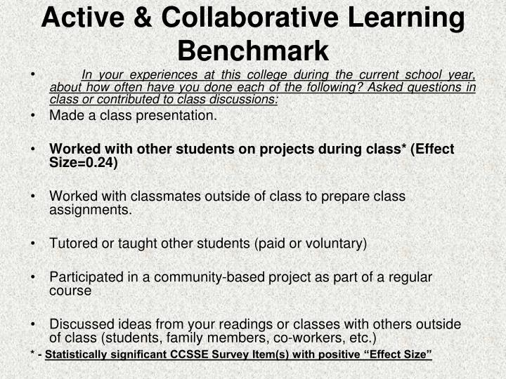 Active & Collaborative Learning