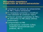 mioepitelio neopl sico producci n de matriz extracelular