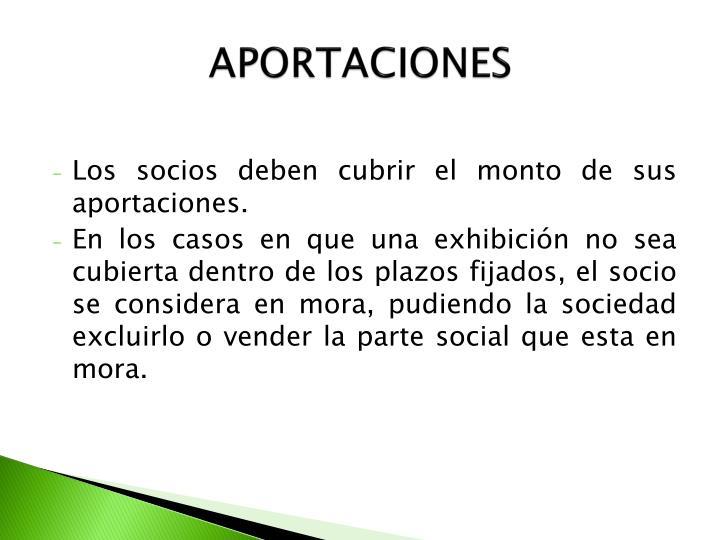APORTACIONES