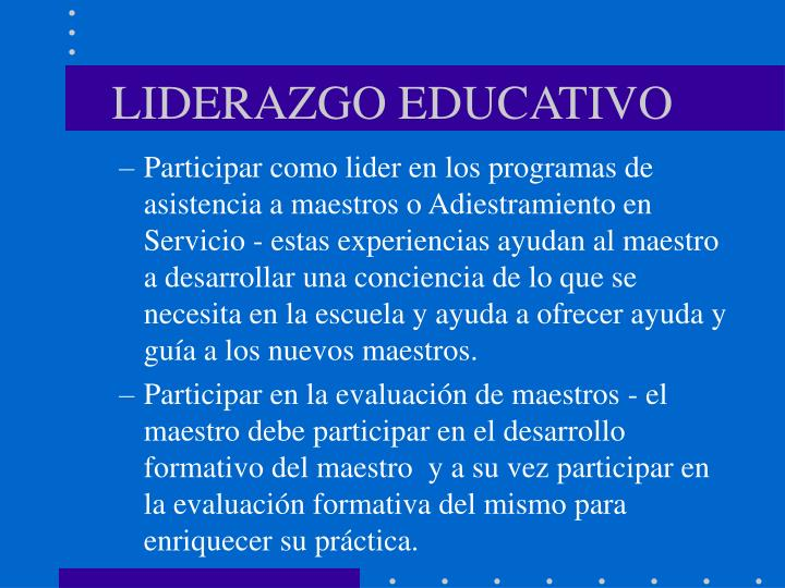 LIDERAZGO EDUCATIVO