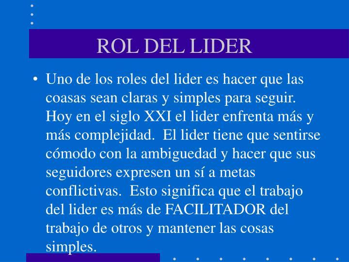 ROL DEL LIDER