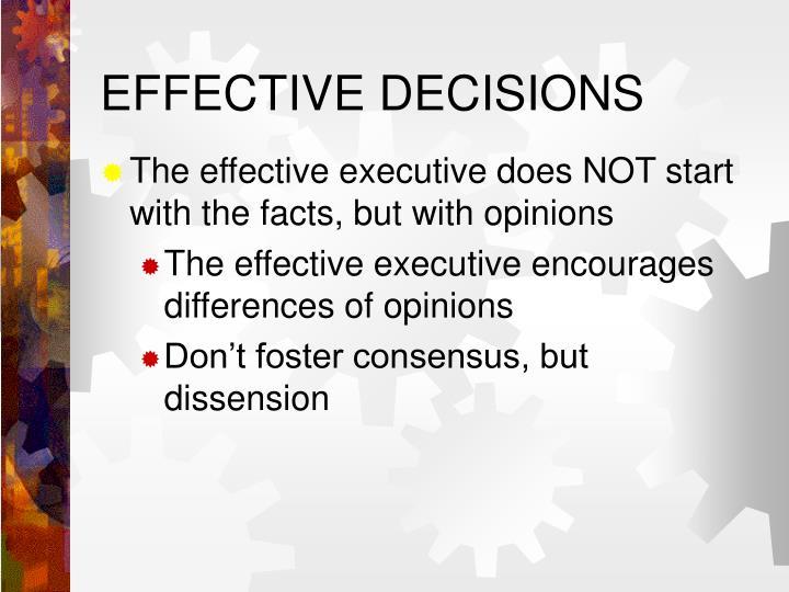 EFFECTIVE DECISIONS