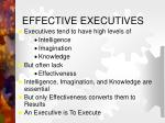 effective executives