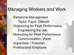 managing workers and work1