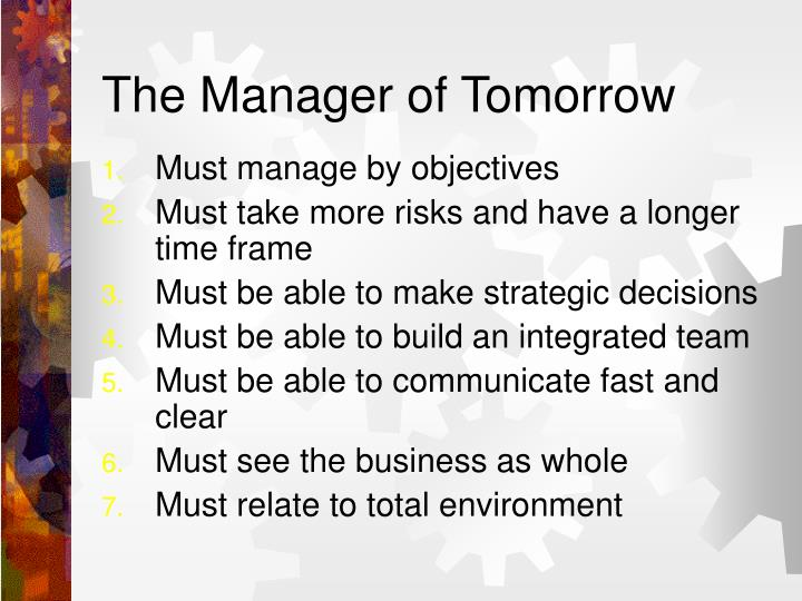 The Manager of Tomorrow