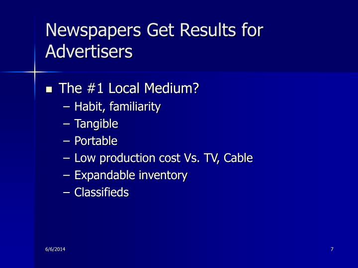 Newspapers Get Results for Advertisers