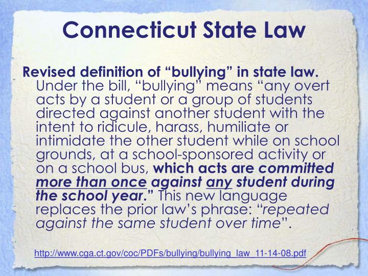 Connecticut State Law