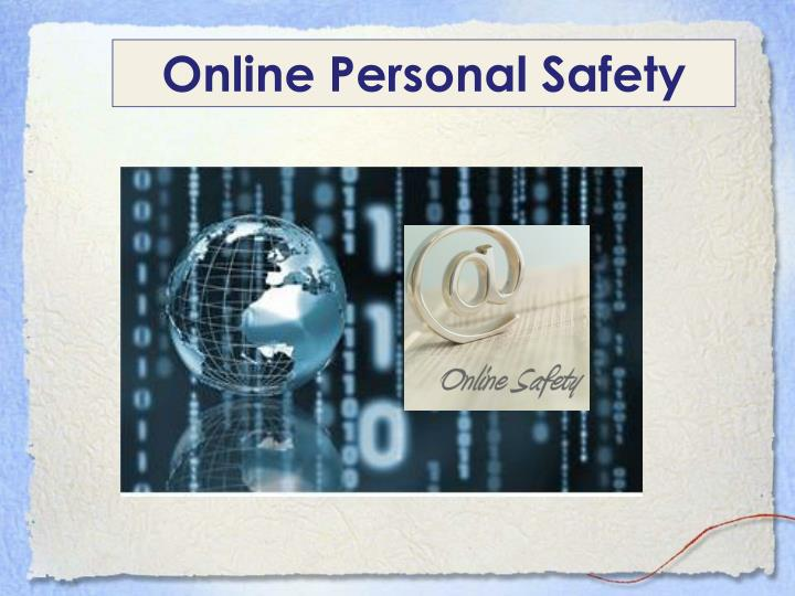 Online Personal Safety