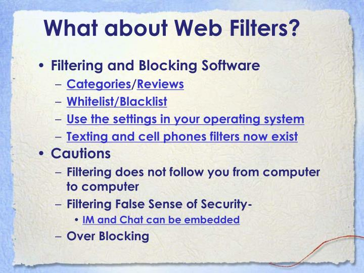 Filtering and Blocking Software
