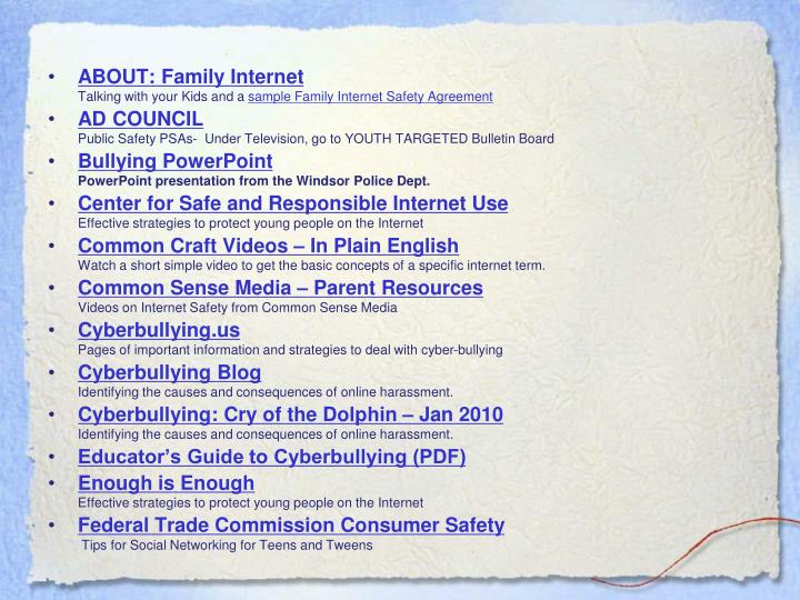 ABOUT: Family Internet