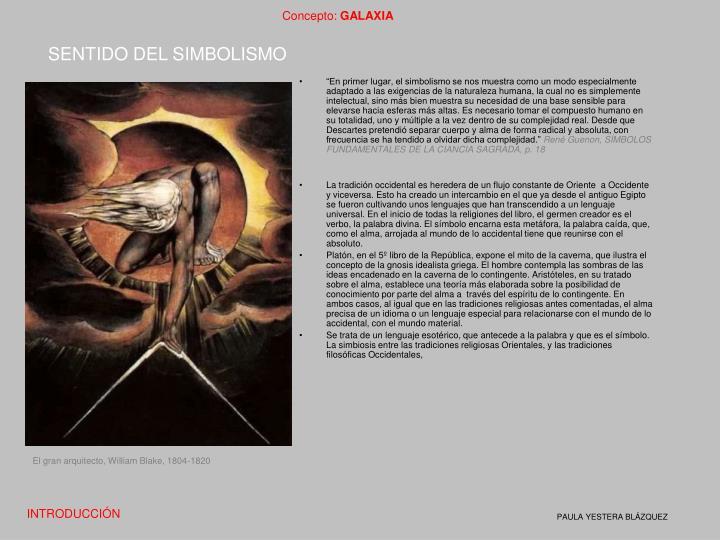 SENTIDO DEL SIMBOLISMO