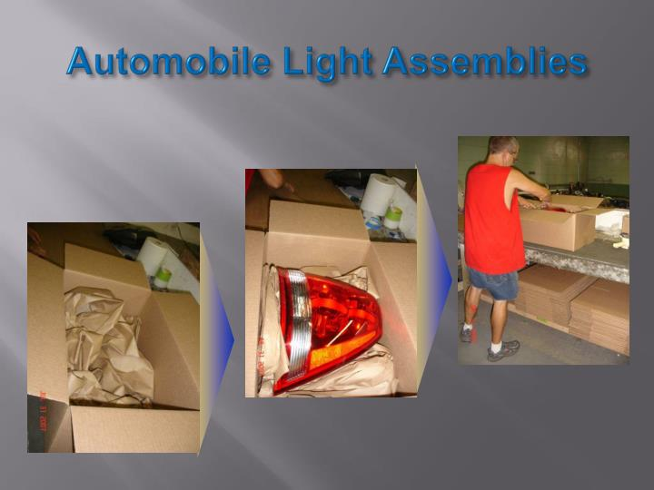 Automobile Light Assemblies