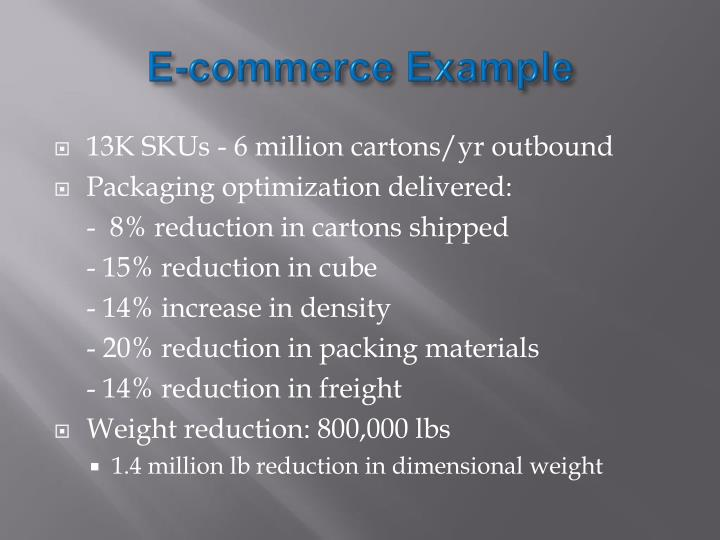 E-commerce Example