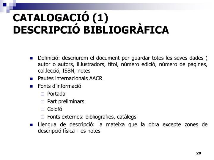CATALOGACIÓ (1)