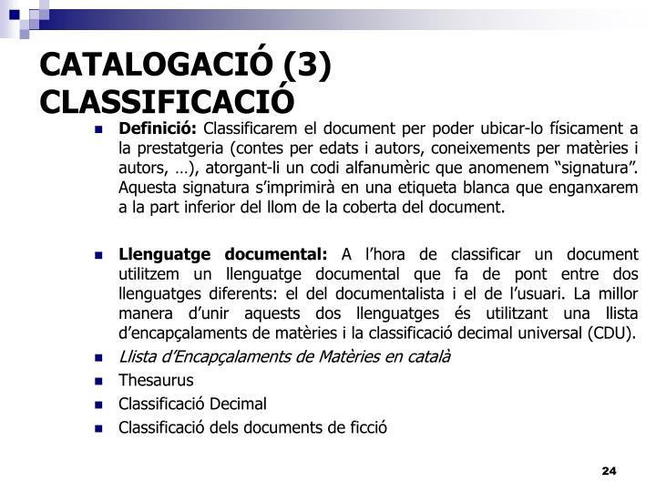 CATALOGACIÓ (3)
