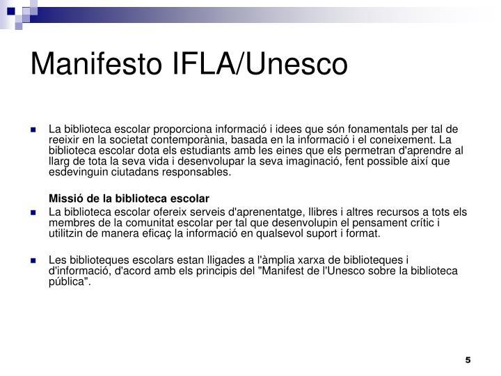 Manifesto IFLA/Unesco