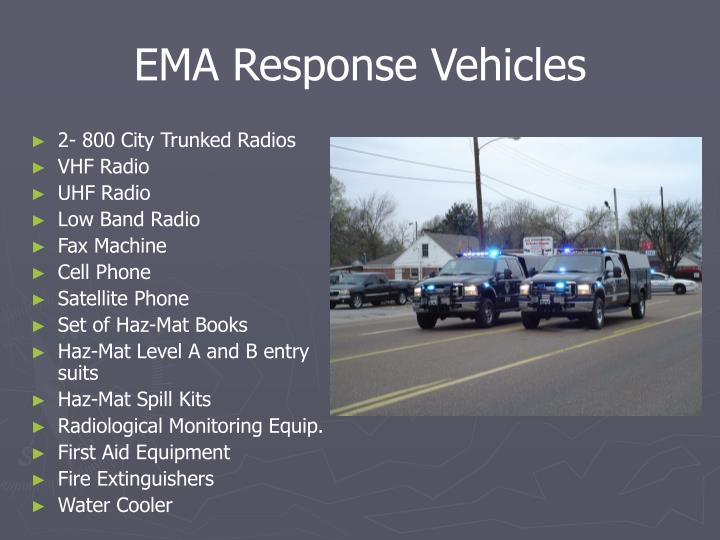 EMA Response Vehicles