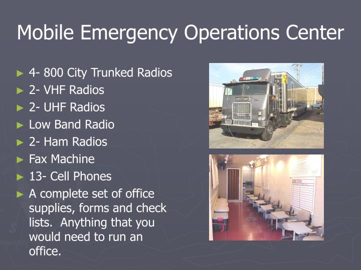 Mobile Emergency Operations Center