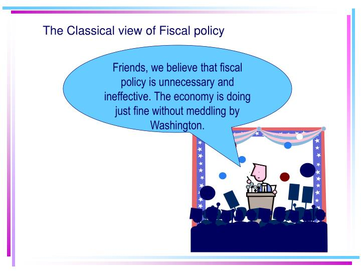 The Classical view of Fiscal policy