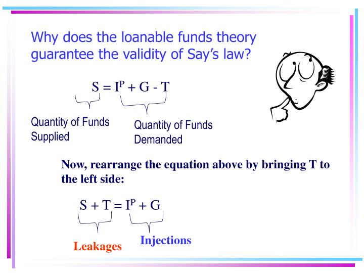 Why does the loanable funds theory