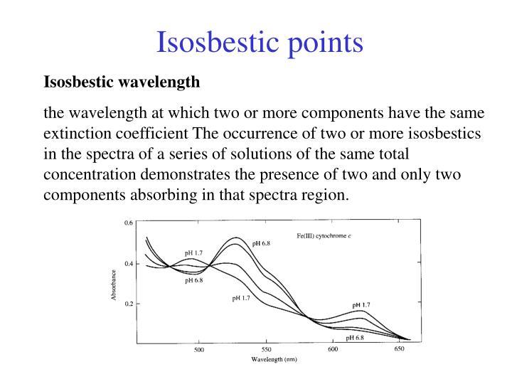 Isosbestic points