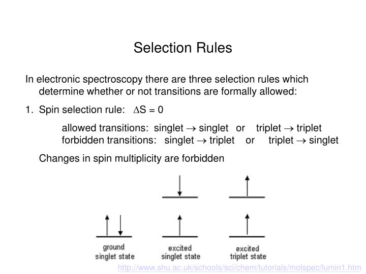 Selection Rules