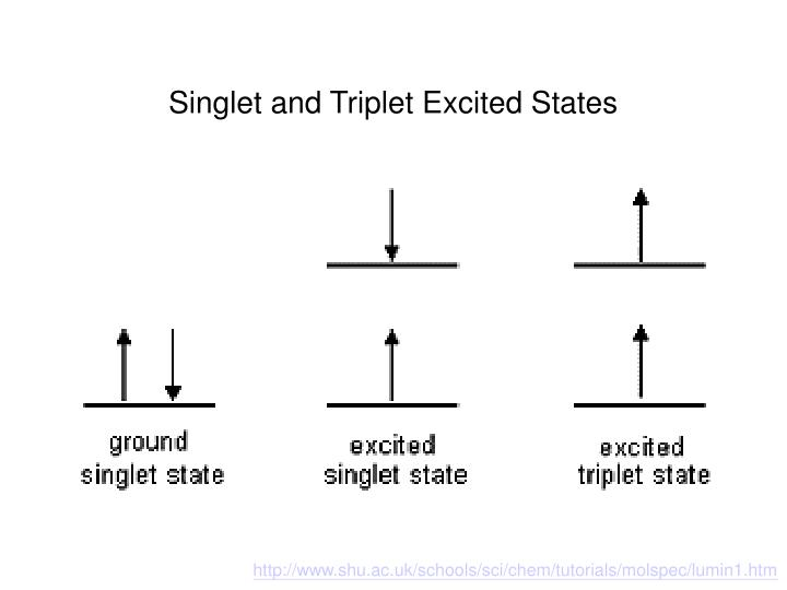 Singlet and Triplet Excited States