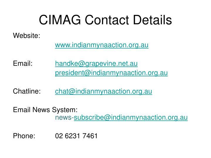 CIMAG Contact Details