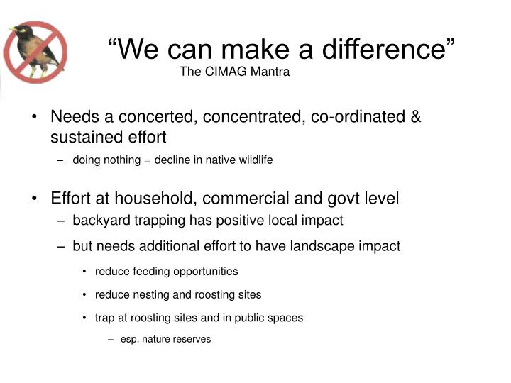 """""""We can make a difference"""""""