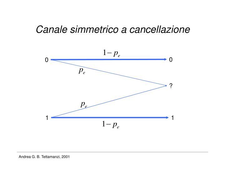 Canale simmetrico a cancellazione