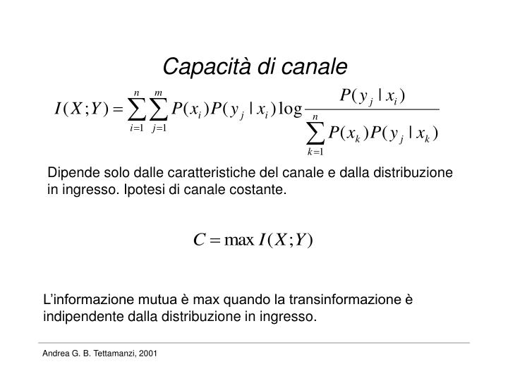 Capacità di canale