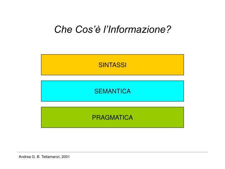 Che Cos'è l'Informazione?