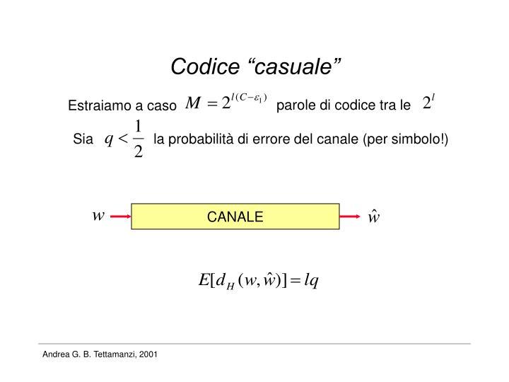 """Codice """"casuale"""""""