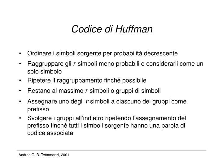 Codice di Huffman