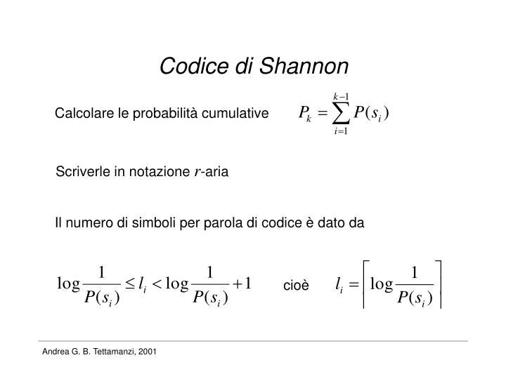Codice di Shannon
