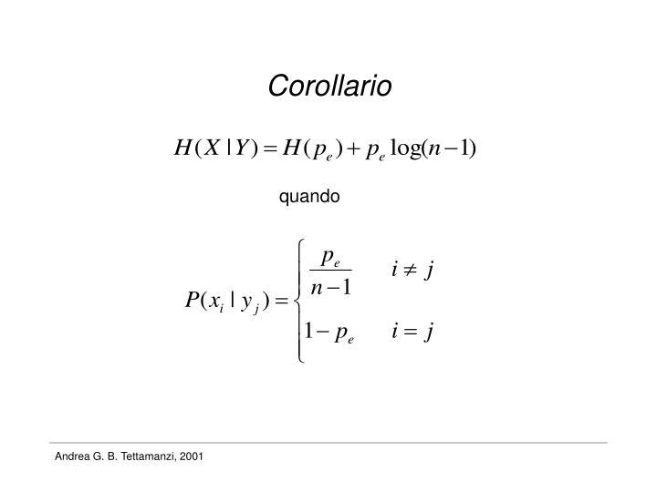 Corollario