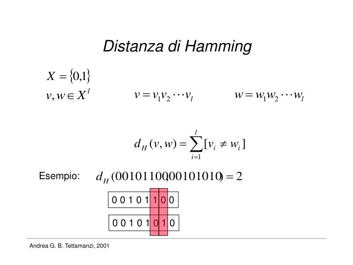 Distanza di Hamming
