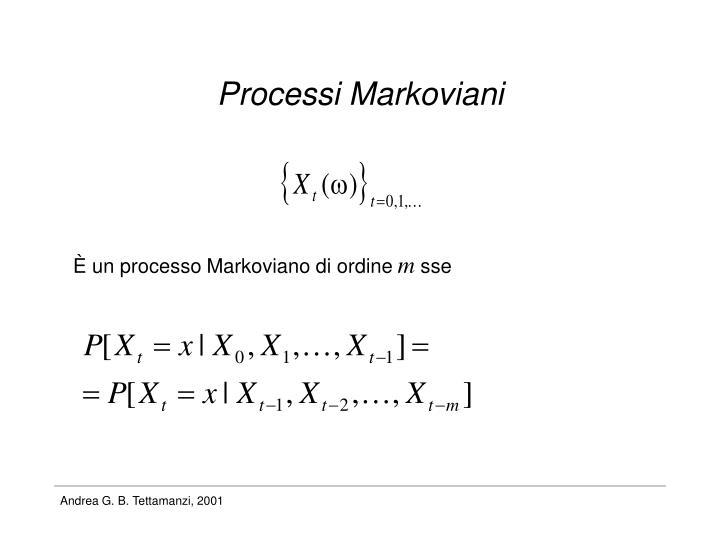 Processi Markoviani