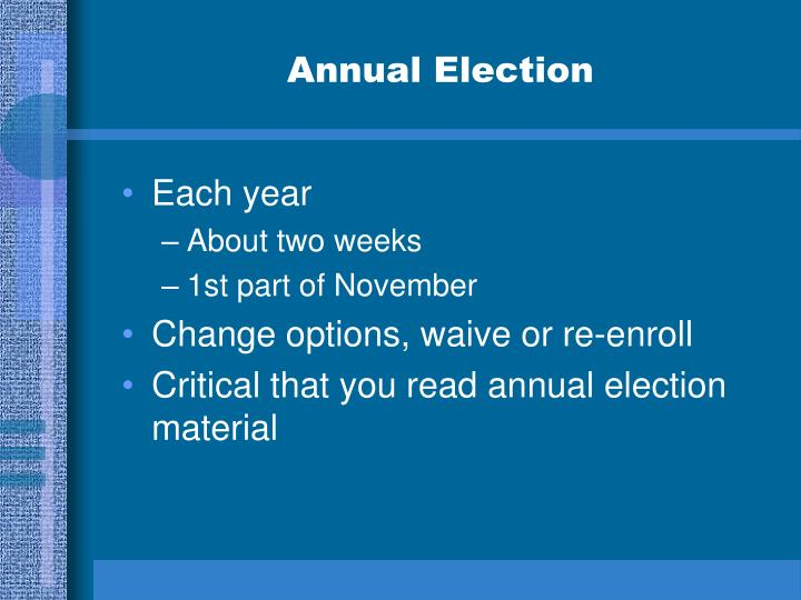 Annual Election